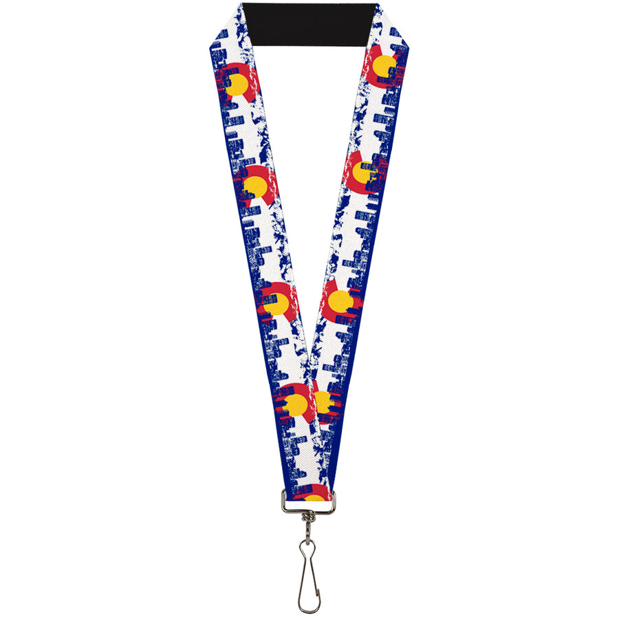 "Lanyard - 1.0"" - Colorado Skyline Mountains"