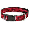 Plastic Clip Collar - Mossy Oak Elements Crimson Agua Camo Red