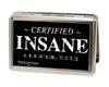 Business Card Holder - LARGE - CERTIFIED INSANE-ARKHAM CITY FCG Black White