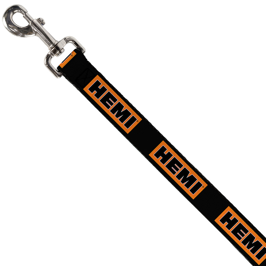 Dog Leash - HEMI Bold Black/Orange/White/Black
