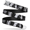 Tinker Bell CLOSE-UP Full Color Black White Seatbelt Belt - Tinker Bell Scenes Black/White Webbing