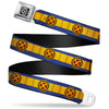 X-Men Logo Black/Silver Seatbelt Belt - X-Men Cyclops Utility Strap Blue/Gold/Black/Red Webbing