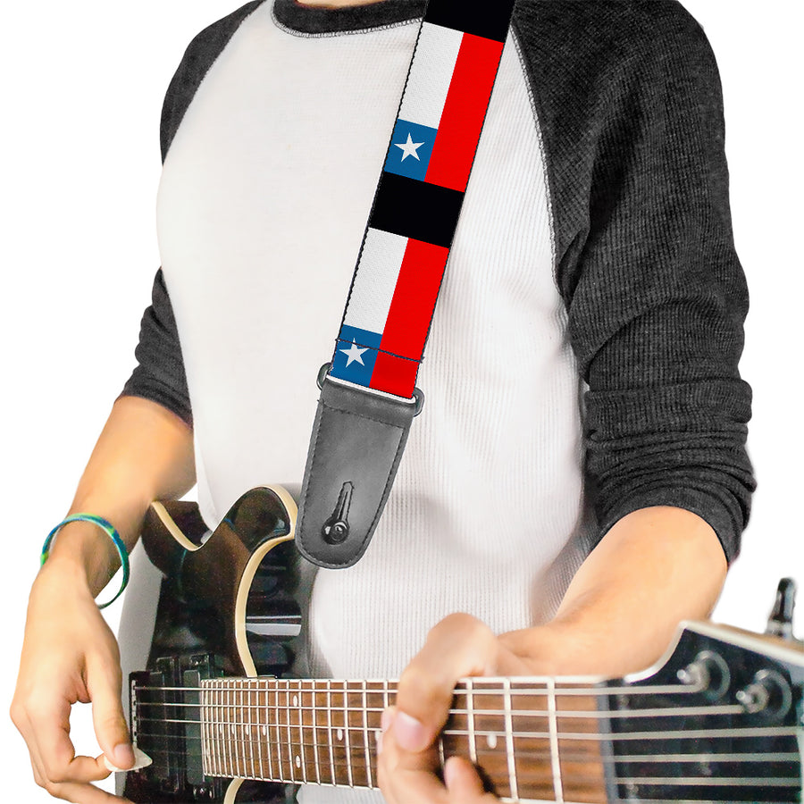 Guitar Strap - Chile Flags