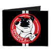 Canvas Bi-Fold Wallet - SPUTNIK 2 Laika Dog Black Red White