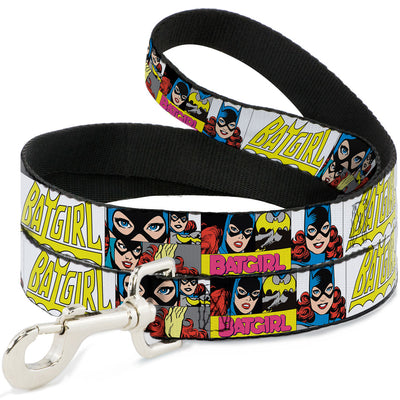 Dog Leash - BATGIRL Panels Yellow/Pink