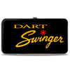 Hinged Wallet - Dodge DART SWINGER Script Black Red Yellow-Fade