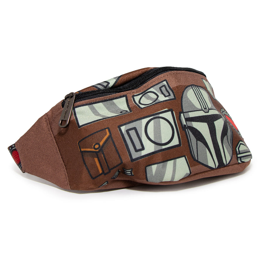 Fanny Pack - Star Wars The Mandalorian Beskar Armor Bounding Brown Grays Reds