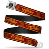Gryffindor Crest Full Color Black/Gold Seatbelt Belt - GRYFFINDOR & Crest Stripe Reds/Gold Webbing