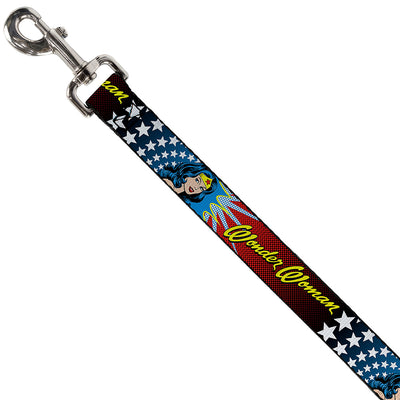 Dog Leash - Wonder Woman Face w/Stars