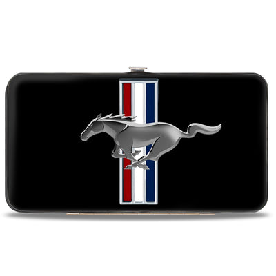 Hinged Wallet - Ford Mustang w Bars Logo CENTERED
