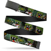 Black Buckle Web Belt - Marvin the Martian 4-Poses Galaxy Webbing
