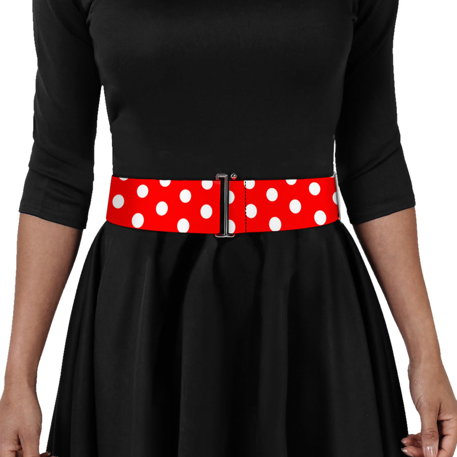 Cinch Waist Belt - Minnie Mouse Polka Dots Red White