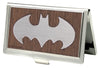 Business Card Holder - SMALL - Batman Marquetry Black Walnut Metal