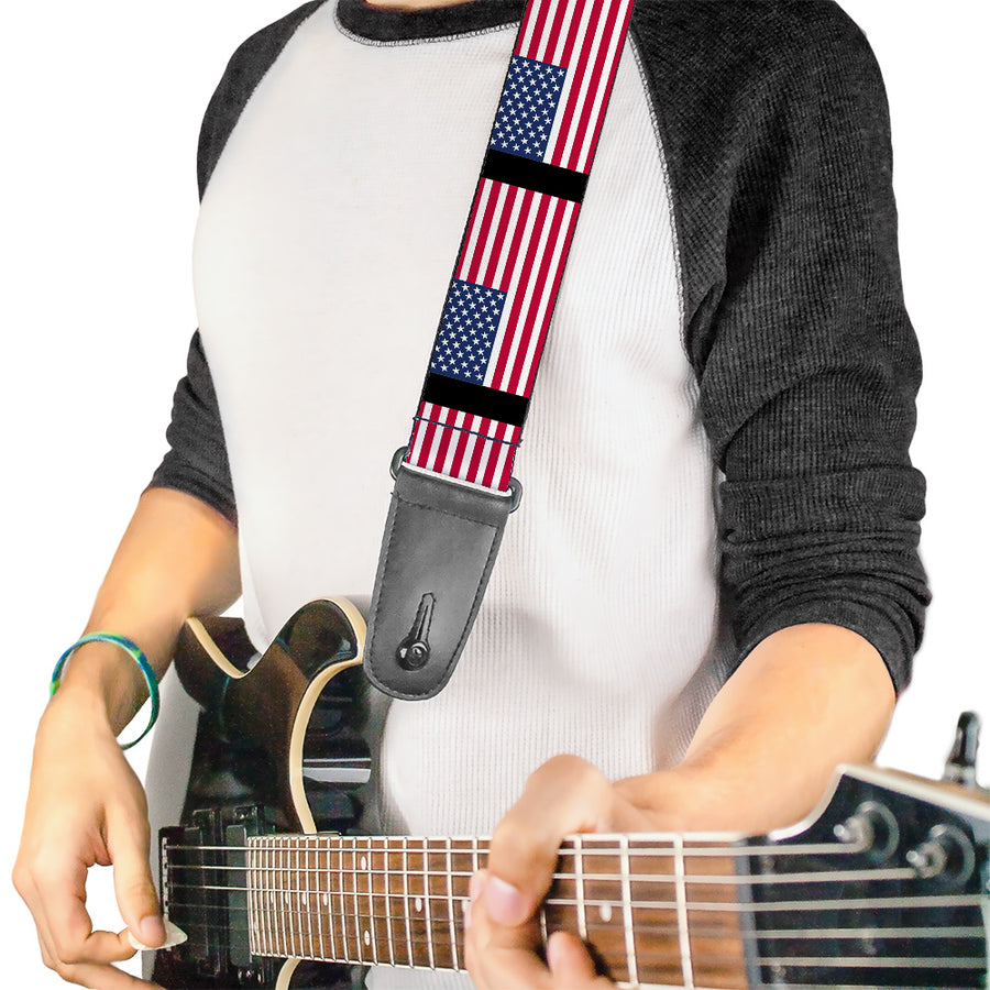 Guitar Strap - United States Flags
