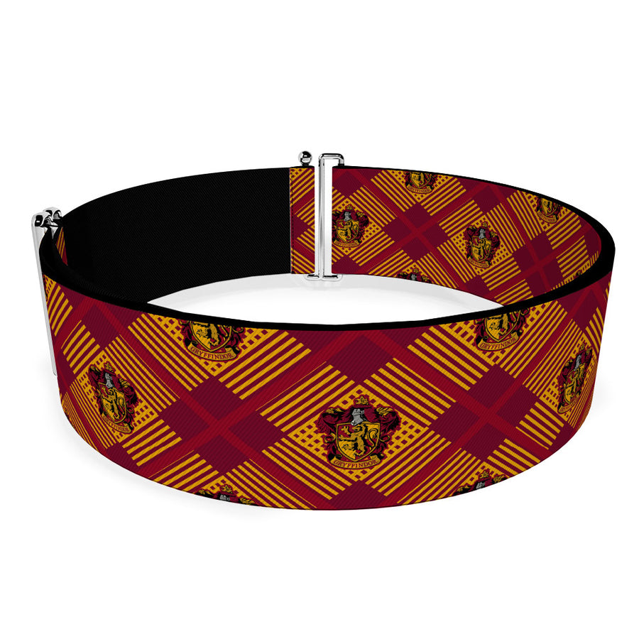 Cinch Waist Belt - Harry Potter Gryffindor Crest Plaid Reds Gold
