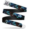 Jack Expression6 Full Color Seatbelt Belt - NBC Jack, Oogie Boogie, Santa Scene Webbing