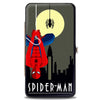 MARVEL COMICS Hinged Wallet - Art Deco Full Moon SPIDER-MAN Skyline