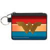 Canvas Zipper Wallet - MINI X-SMALL - Wonder Woman 2017 Icon Stripe Red Golds Blue