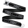 Chevy Seatbelt Belt - Vintage CHEVROLET Bowtie/Stars Stripe Black/Grays (1934 logo) Webbing