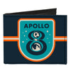 Canvas Bi-Fold Wallet - APOLLO 8 Orbit Blues Orange White