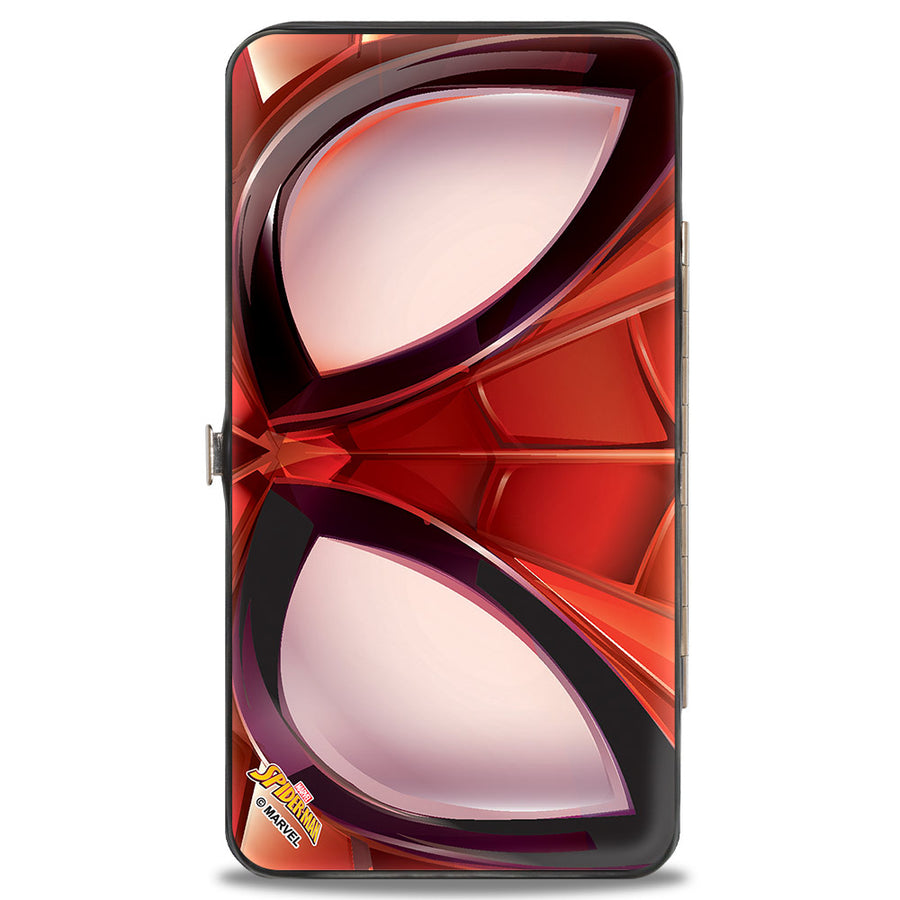 2016 SPIDER-MAN Hinged Wallet - Spider-Man Eyes CLOSE-UP Reds Black White