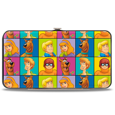 Hinged Wallet - Scooby Doo 5-Character Face Blocks Multi Color