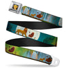 Simba2 CLOSE-UP Full Color Seatbelt Belt - Lion King Simba, Pumba & Timon Growing Up Webbing