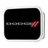 DODGE Red Rhombus Framed FCG Black White Red - Chrome Rock Star Buckle