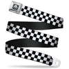 MOPAR Logo Full Color Black White Seatbelt Belt - Checker Black/White Webbing