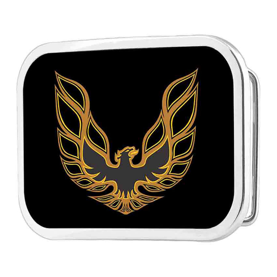 Pontiac Firebird Logo FCG Black Golds - Chrome Rock Star Buckle