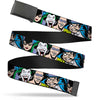 Black Buckle Web Belt - Justice League Villains CLOSE-UP Webbing