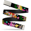 Chrome Buckle Web Belt - Alice's Encounters in Wonderland Webbing