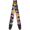 Guitar Strap - Disney Princess Poses Castle Silhouettes Purples Multi Color