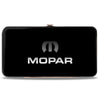 Hinged Wallet - MOPAR Logo Black Silver Gradient