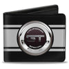 Bi-Fold Wallet - FORD GT CALIFORNIA SPECIAL Emblem Stripe Black Gray Silvers