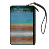 Canvas Zipper Wallet - SMALL - SEE AMERICA-YELLOWSTONE Vivid GRAND PRISMATIC SPRING