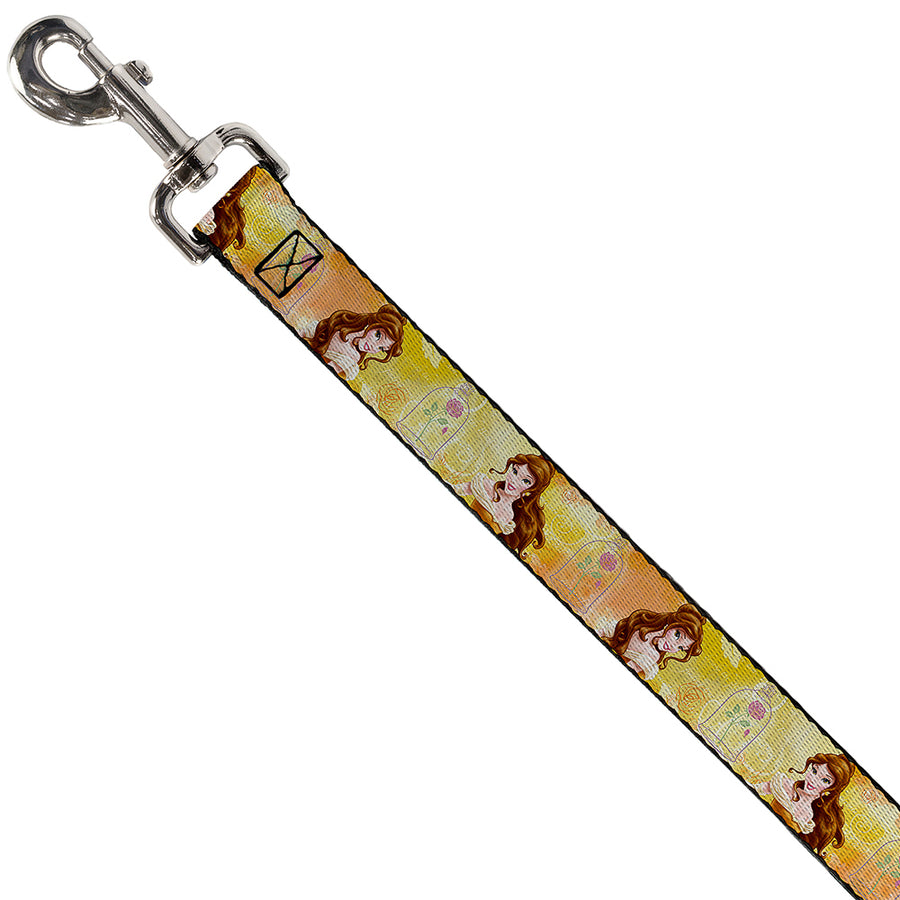 Dog Leash - Belle Poses/Enchanted Rose/Story Script Yellow/Pinks