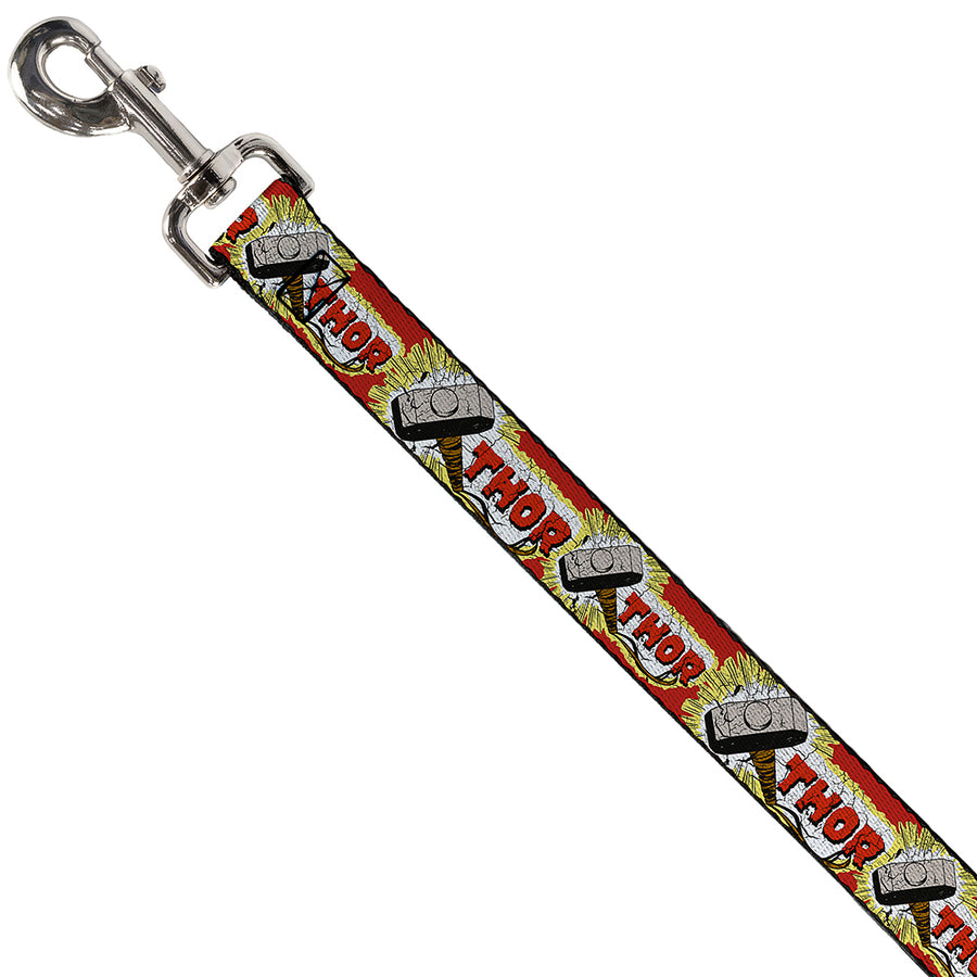 Dog Leash - THOR & Hammer Red/Yellow/White