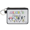Canvas Zipper Wallet - MINI X-SMALL - MICKEY'S FRIENDS The Fab Five Faces Gray