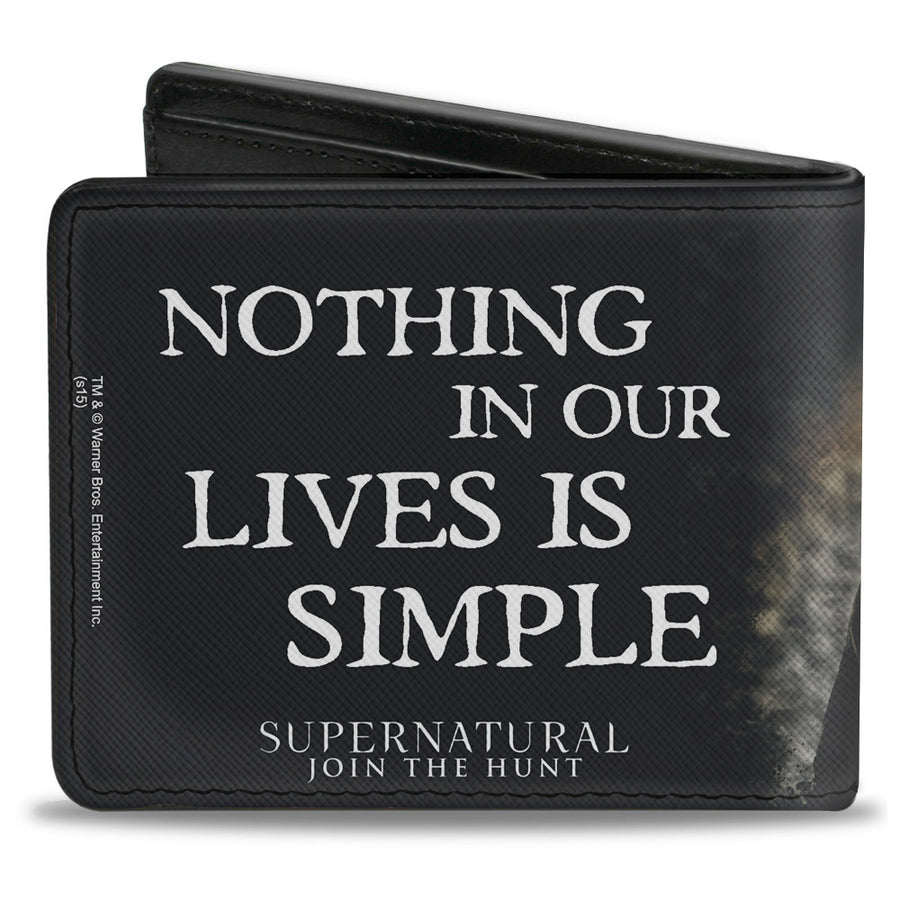 Bi-Fold Wallet - Dean, Sam & Castiel Group + NOTHING IN OUR LIVES IS SIMPLE-SUPERNATURAL