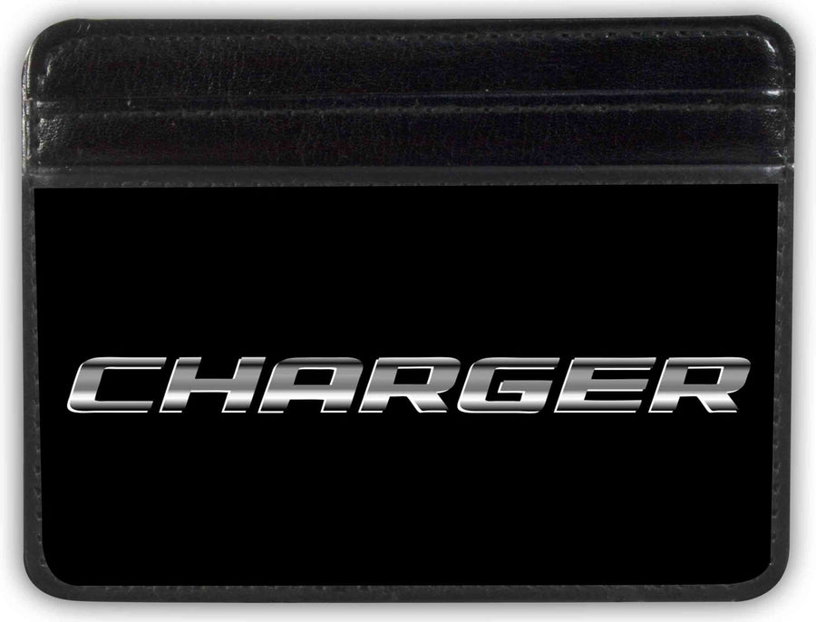 Weekend Wallet - CHARGER Emblem Text Black Silver-Fade