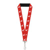"Lanyard - 1.0"" - HONDA Motorcycle Logo Red White"