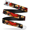 Red Hood Logo Full Color Black Red Seatbelt Belt - Red Hood and the Outlaws #29 Shooting/Explosion Cover Pose/Logo Webbing