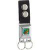 Keychain - Scooby & Shaggy BAKED Full Color Turquoise Green