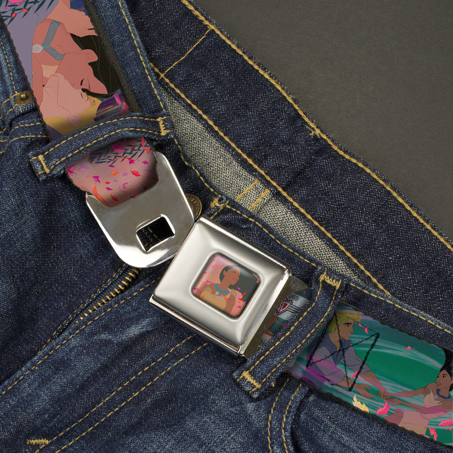 Pocahontas Colors of the Wind Full Color Seatbelt Belt - Pocahontas & John Smith Scenes Webbing