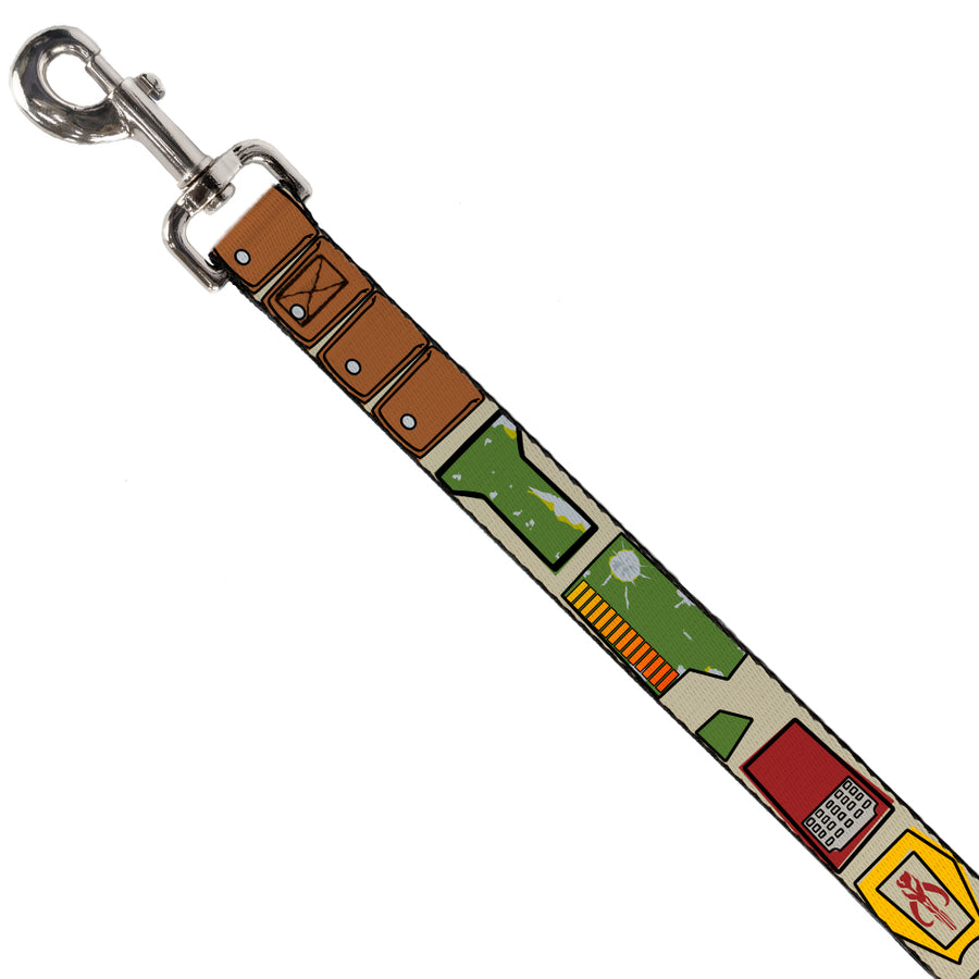 Dog Leash - Star Wars Boba Fett Utility Belt Bounding Tan