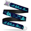 Princess Gem CLOSE-UP Full Color Purple Seatbelt Belt - Aladdin & Jasmine Silhouette A WHOLE NEW WORLD Webbing