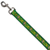 Dog Leash - Kawaii LOKI Standing Pose/Text Green/Yellow