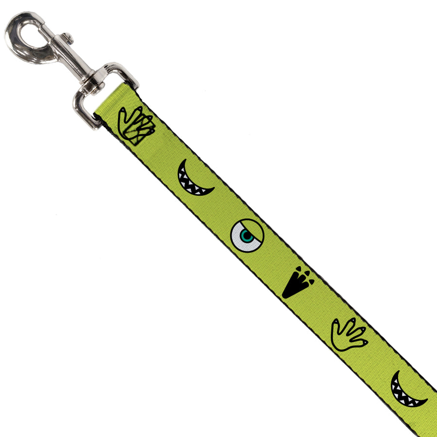 Dog Leash - Monsters Inc. Mike 4-Icons Greens/Black/White