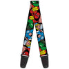 MARVEL COMICS Guitar Strap - 5-Marvel Characters Black